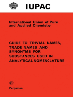 Guide to Trivial Names, Trade Names and Synonyms for Substances Used in Analytical Nomenclature