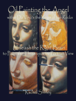 Oil Painting the Angel within Da Vinci's the Virgin of the Rocks
