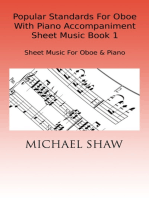 Popular Standards For Oboe With Piano Accompaniment Sheet Music Book 1