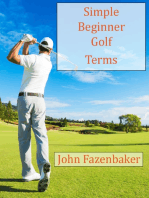 Simple Beginner Golf Terms