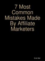 7 Most Common Mistakes Made By Affiliate Marketers