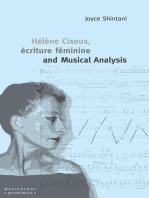 Hélène Cixous, écriture féminine and Musical Analysis