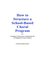 How to Structure a School-Based Choral Program