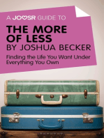 A Joosr Guide to... The More of Less by Joshua Becker