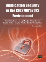 Application security in the ISO27001:2013 Environment