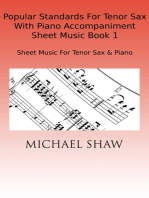 Popular Standards For Tenor Sax With Piano Accompaniment Sheet Music Book 1