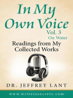 In My Own Voice. Reading from My Collected Works – On Water
