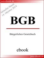 BGB - Bürgerliches Gesetzbuch - Aktueller Stand