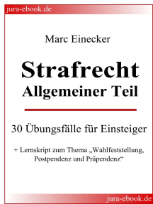 """Strafrecht Allgemeiner Teil: 30 Übungsfälle für Einsteiger + Lernskript zum Thema """"Wahlfeststellung, Postpendenz und Präpendenz"""""""