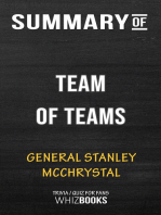 Summary of Team of Teams by General Stanley McChrystal   Conversation Starters