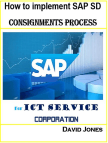 How To Implement SAP SD-Consignments Process For ICT service Corporation
