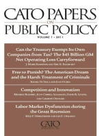 Cato Papers on Public Policy, Volume 1