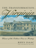 The Transformation of Virginia, 1740-1790