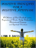 Positive Thoughts For A Positive Attitude