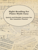 Sight-Reading for Piano Made Easy - Quick and Simple Lessons for the Amateur Pianist