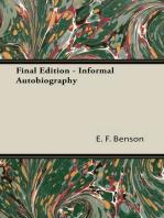 Final Edition - Informal Autobiography