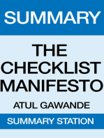 The Checklist Manifesto Summary