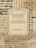 What You Should Know About Graphology - The Facts About Telling Character From Handwriting