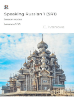 Speaking Russian 1 (SR1). Lesson notes. Lessons 1-10.