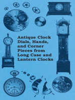 Antique Clock Dials, Hands, and Corner Pieces from Long Case and Lantern Clocks