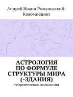 Астрология по Формуле Структуры Мира(-Здания). Теоретическая психология.