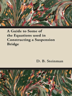 A Guide to Some of the Equations used in Constructing a Suspension Bridge