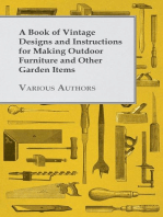 A Book of Vintage Designs and Instructions for Making Outdoor Furniture and Other Garden Items