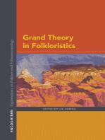 Grand Theory in Folkloristics