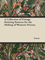 A Collection of Vintage Knitting Patterns for the Making of Women's Dresses