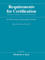 Requirements for Certification of Teachers, Counselors, Librarians, Administrators for Elementary and Secondary Schools, Eighty-first Edition, 2016-2017