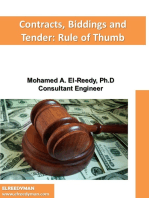 Contracts, Biddings and Tender:Rule of Thumb