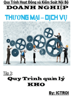 Tập 3 Quản lý Kho- Quy trình hoạt động và kiểm soát nội bộ doanh nghiệp thương mại dịch vụ