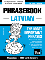 English-Latvian Phrasebook and 3000-Word Topical Vocabulary
