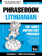 English-Lithuanian Phrasebook and 3000-Word Topical Vocabulary