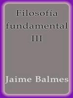 Filosofía fundamental III