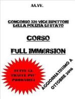 Corso Full Immersion Concorso Vice Ispettori Polizia di Stato