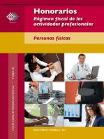 Honorarios. Régimen fiscal de las actividades profesionales