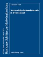 Automobilzuliefererindustrie in Deutschland