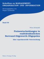 Preisentscheidungen in realitätsähnlichen Bertrand-Edgeworth-Oligopolen