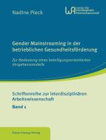 Gender Mainstreaming in der betrieblichen Gesundheitsförderung