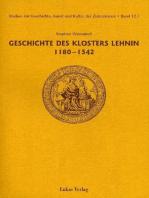 Studien zur Geschichte, Kunst und Kultur der Zisterzienser / Geschichte des Klosters Lehnin 1180-1542