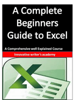 A Complete Beginners Guide to Excel