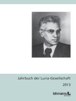 Jahrbuch der Luria-Gesellschaft 2013