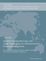 Globale Standardisierung und lokale Anpassung im internationalen Personalmanagement