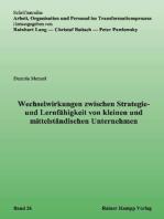 Wechselwirkungen zwischen Strategie- und Lernfähigkeit von kleinen und mittelständischen Unternehmen