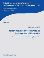Markteintrittswettbewerb in homogenen Oligopolen