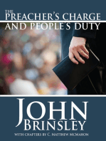 The Preacher's Charge and People's Duty