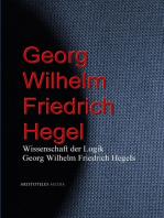 Wissenschaft der Logik Georg Wilhelm Friedrich Hegels