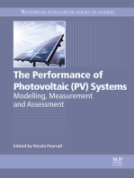 The Performance of Photovoltaic (PV) Systems: Modelling, Measurement and Assessment