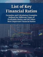 List of Key Financial Ratios